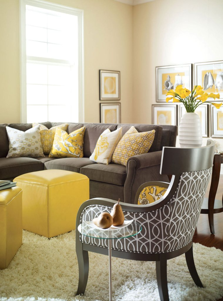 C b i d home decor and design helping maria for Living room yellow and gray