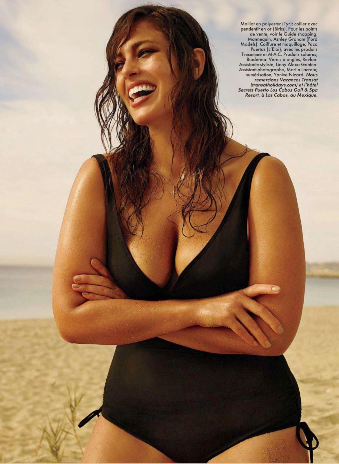 Ashley Graham For ELLE Quebec Magazine, June 2014