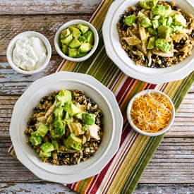 Slow Cooker Green Chile Chicken Cauliflower Rice Burrito Bowl found on ...