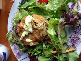Crab Cake Salad at Josiah Chowning's Tavern in Colonial Williamsburg, VA
