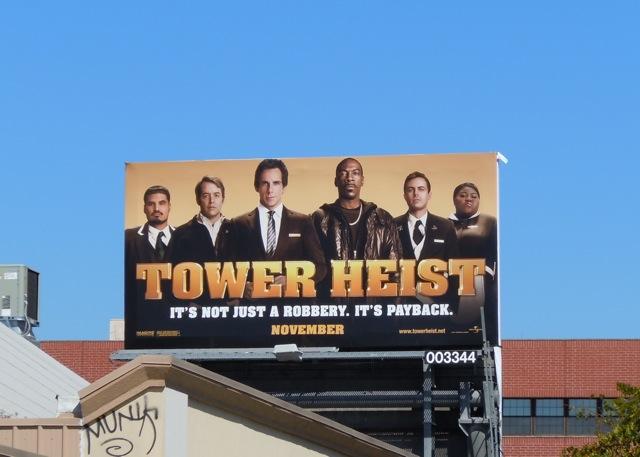 Tower Heist movie billboard