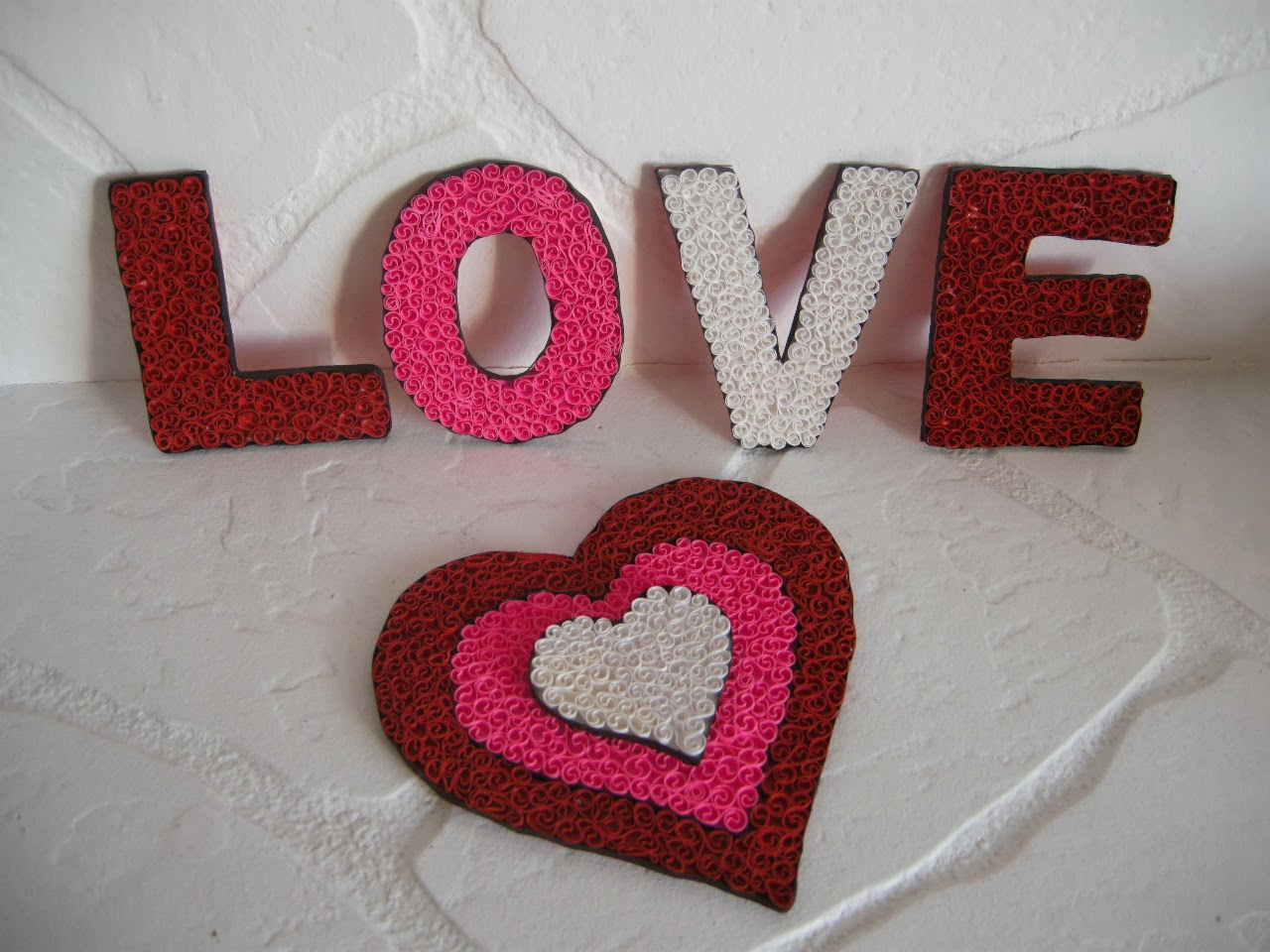 quilling sevgililer günü