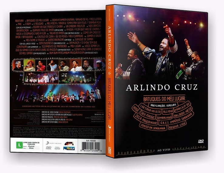 DVD Arlindo Cruz – Batuques do Meu Lugar – Avi- DVD-R(2012)