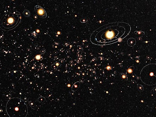 Artists of planets in Milky Way