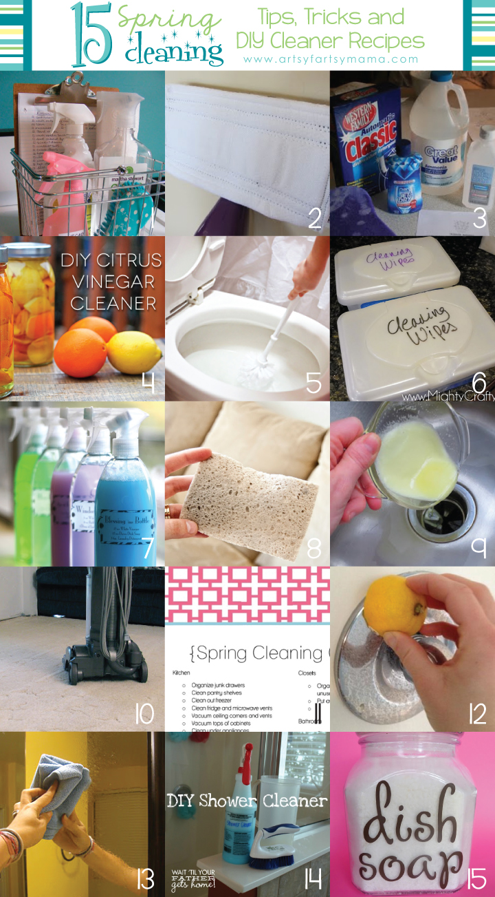 15 Spring Cleaning Tips,Tricks, and DIY Cleaner Recipes