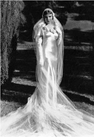 Claudette Colbert Wedding Dress in It Happened One Night: Affordable Wedding Dresses - 1930s