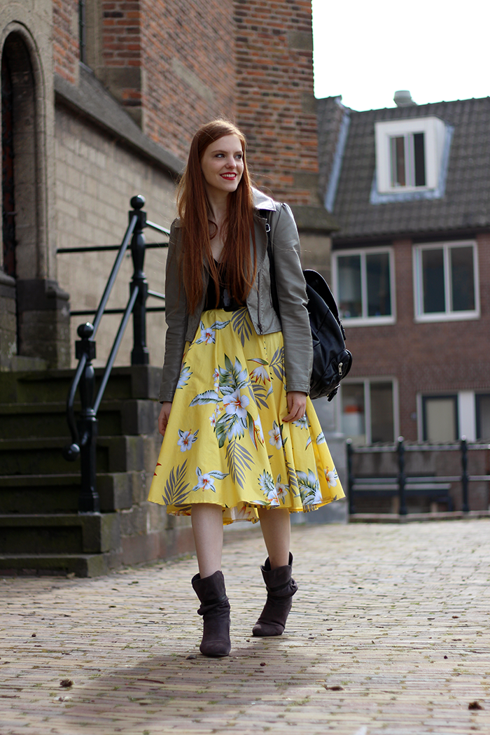 Retro Vintage 50s Fifties Fashion Blogger Outfit Modern Dutch Amsterdam