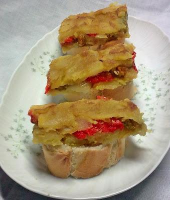 Pincho Vegano de Tortilla de Patata Rellena