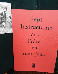 SEPT INSTRUCTIONS AUX FRERES EN SAINT JEAN