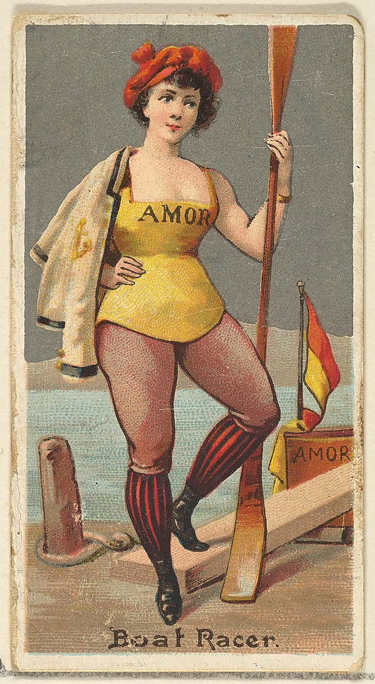 "Boat Racer. Vintage tobacco card ""Occupations For Women"", via ellomennopee"