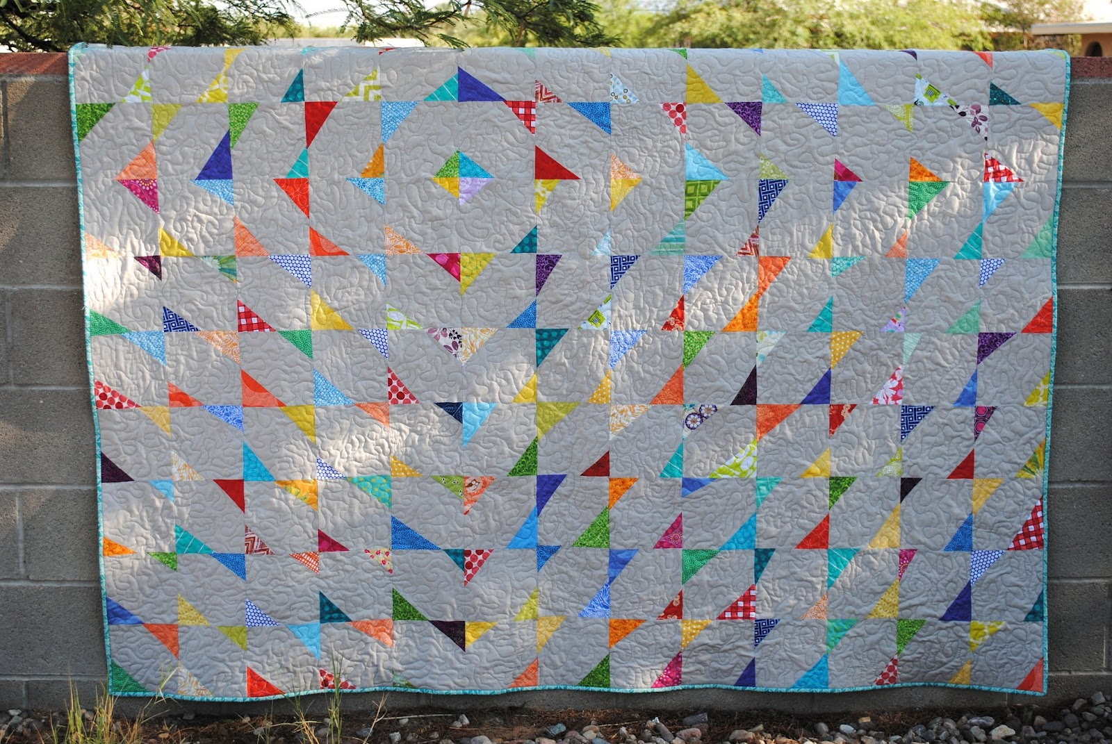 stitch and flip wonky quilt