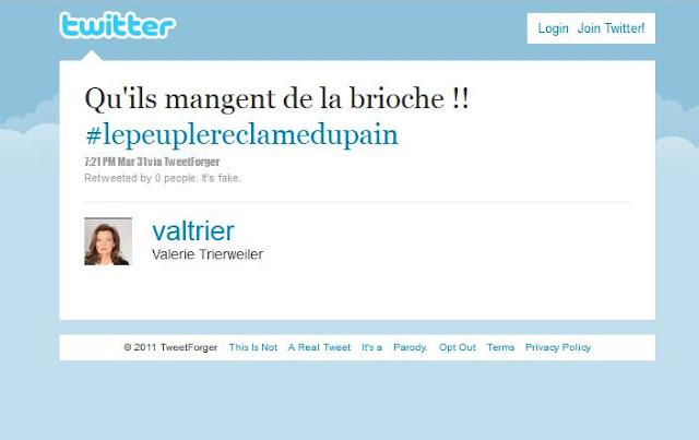 Valerie Trierweiler - Brioche - Tweet