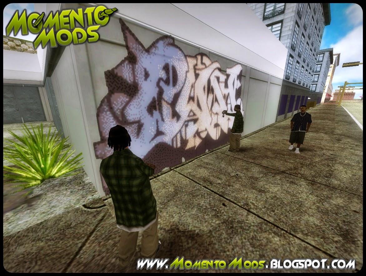 GTA SA - Grafiteiros Em Baixo Da Ponte