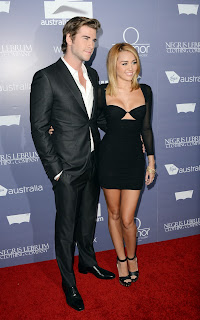 Miley Cyrus and fiance look good in black outfits