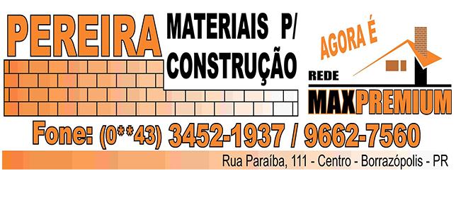 PEREIRA MATERIAL PARA CONSTRUÇÃO