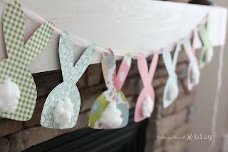 Decoração de Páscoa |  Corrente de coelhos