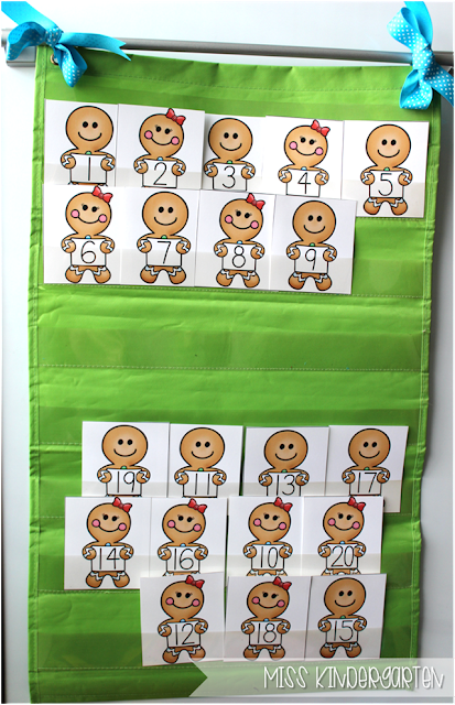 Miss Kindergarten {gingerbread number order}