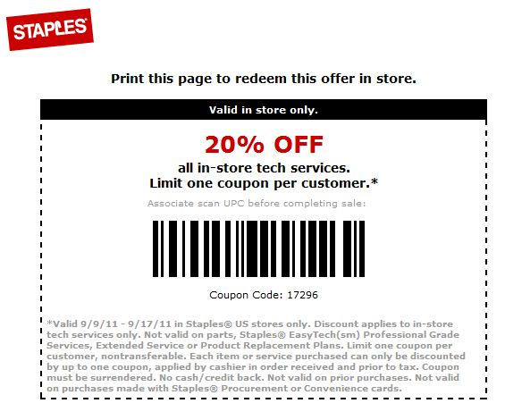 Staples paper coupons 2018