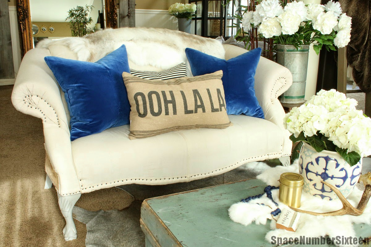 Royal Blue Velvet Pillows