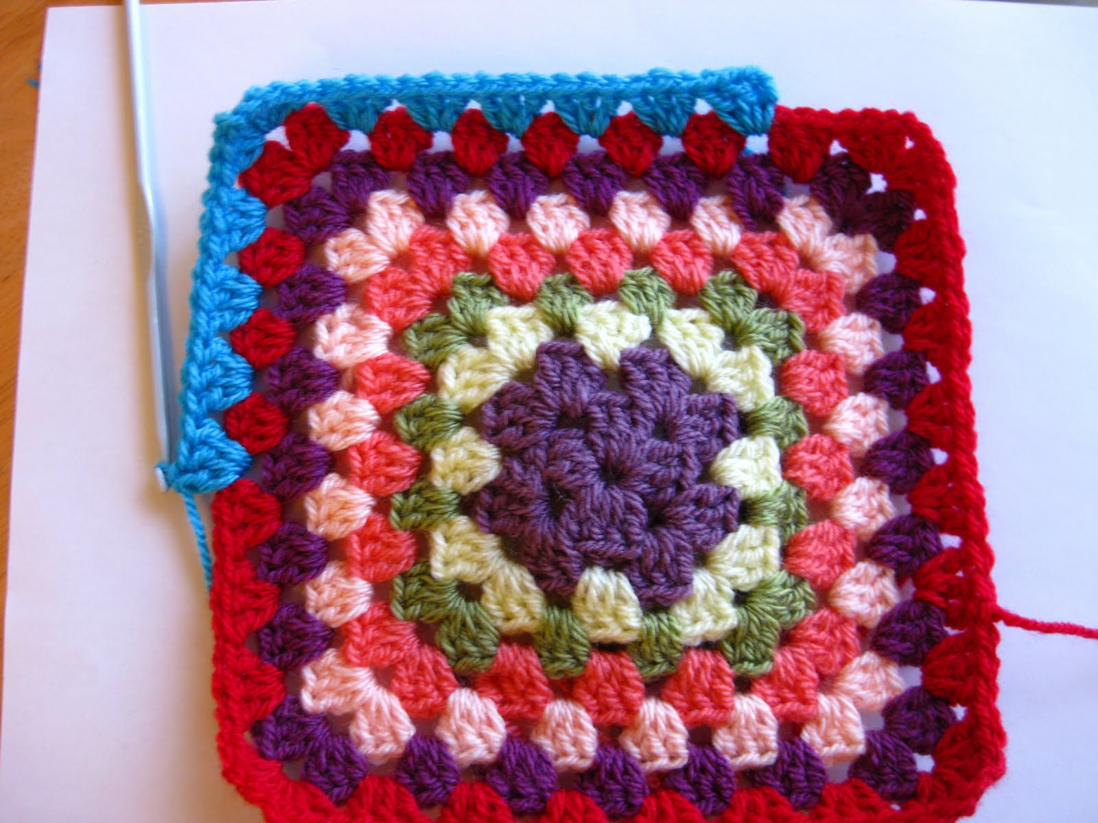 Bunny Mummy: How to crochet a Granny Square
