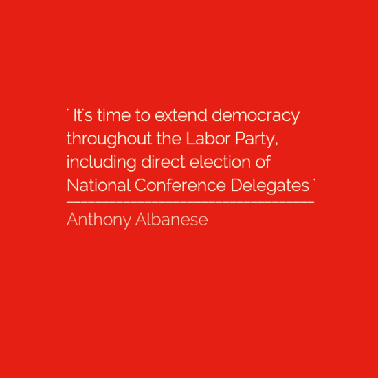 DEMOCRATISE OUR LABOR PARTY