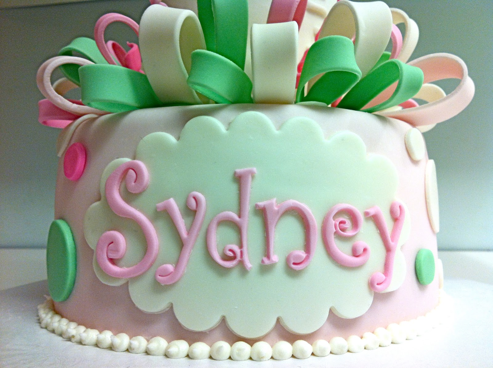 Cake Decorating Letter Cutters : MegMade Cakes: Baby Shower Cake for Sydney