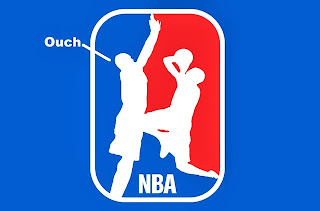 funny new alternate NBA logo