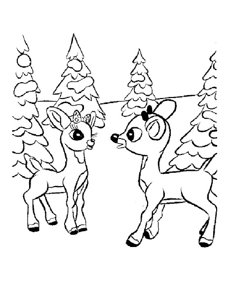 Cartoon Christmas Tree Coloring Page