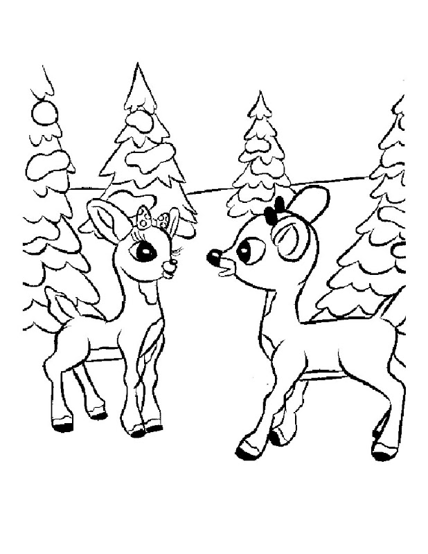 Rudolph Coloring Pages title=