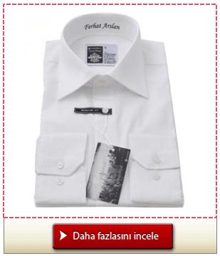 Kişiye özel mesajlı beyaz erkek gömlek