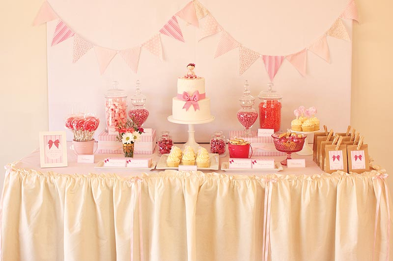 Birthday Cake Table Decoration Ideas : Cake Ink.: Pretty pink first birthday