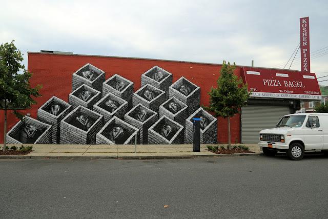 Street Art By British Artist Phlegm In New York City, USA. 5