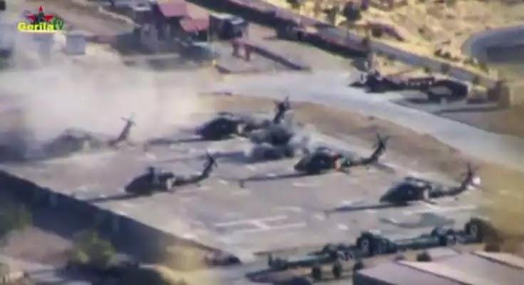 Το PKK καταστρέφει τουρκικά ελικόπτερα σε βάση στη νοτιοανατολική Τουρκία [Βίντεο]