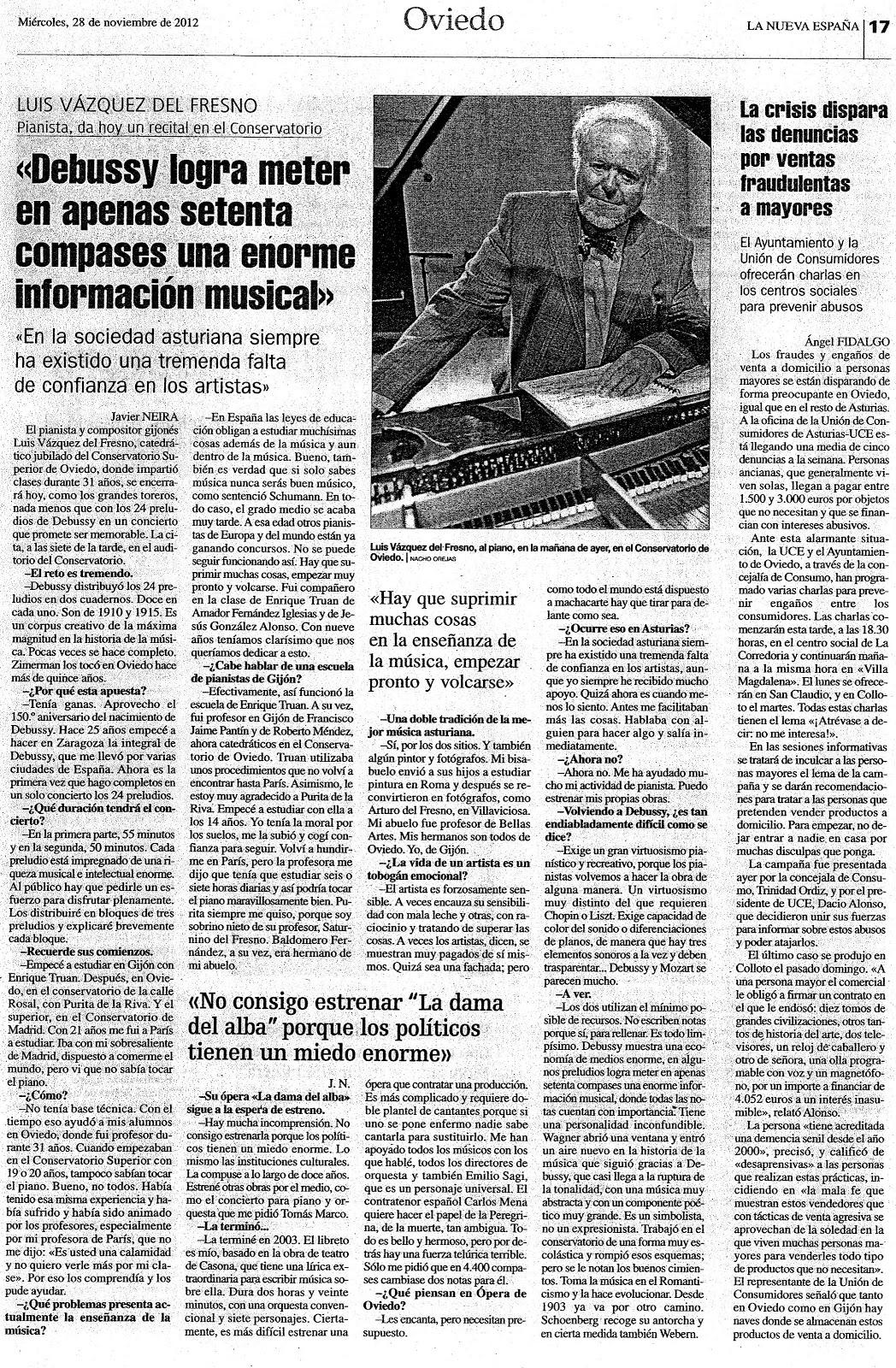 Luis Vázquez del Fresno | Pablo, la música en Siana