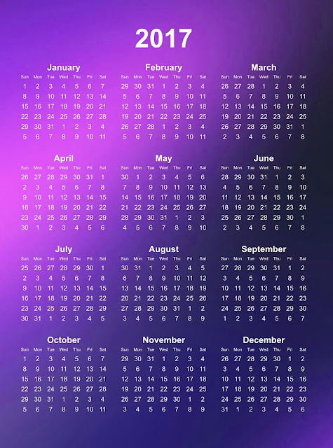 Фото календаря на 2017