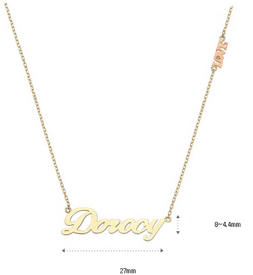 Mini Initial Necklace 14K