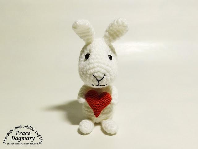 szydełkowy królik