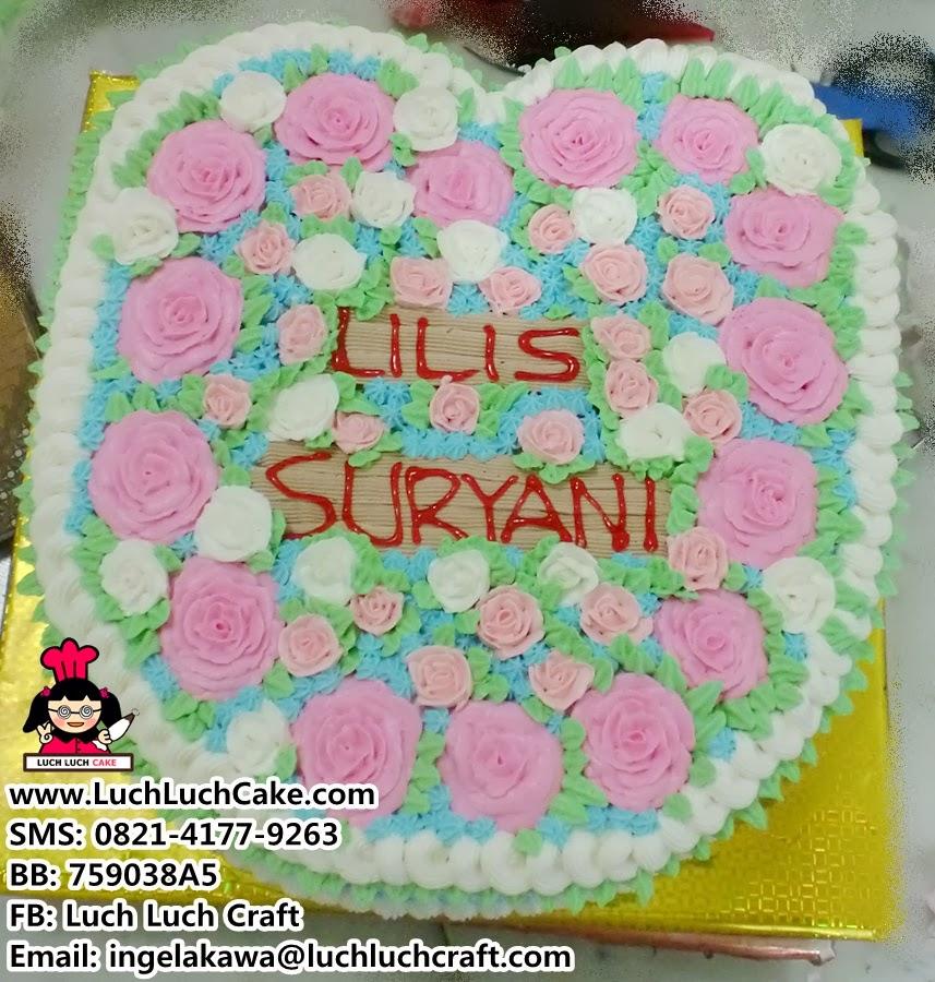 Kue Tart Bentuk Hati Valentine Cantik Daerah Surabaya dan Sidoarjo