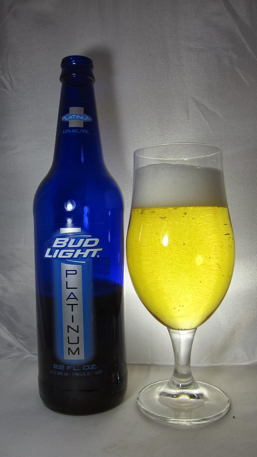 drinking bud oz platinum fl light glass