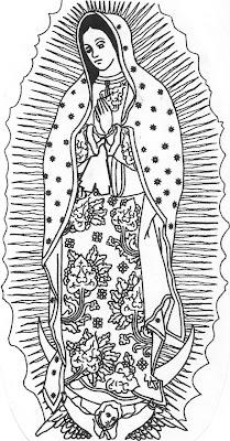 Me Gusta La Clase De Religión Virgen De Guadalupe Para Colorear