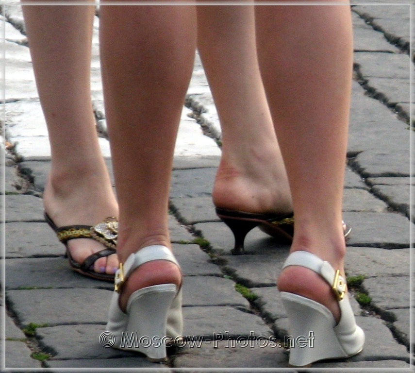 White summer platform shoes