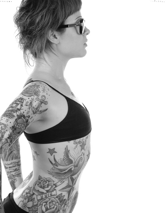 Various Woman Rib Tattoos