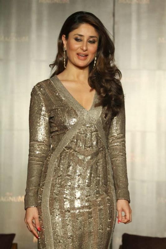 Glorious sparkling Kareena kapoor at magnum ice cream launch
