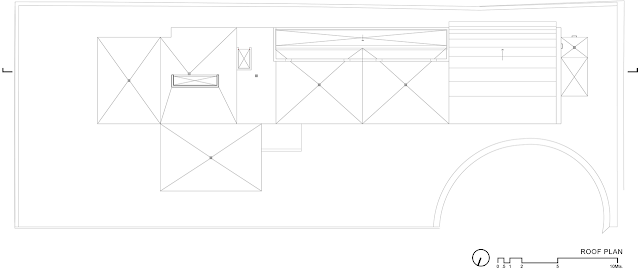 Roof floor plan of FF House in Mexico