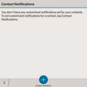 Setting Notification contact 2