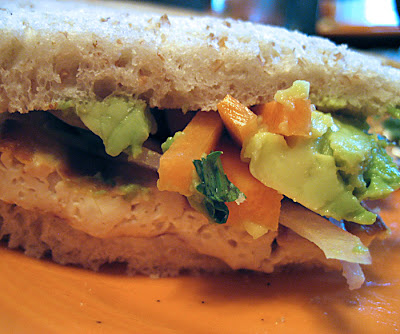 Andrea's Easy Vegan Cooking: Aaron's grilled tofu sandwich