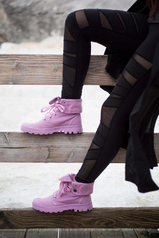 Baggy M Palladium Boots in Lavender