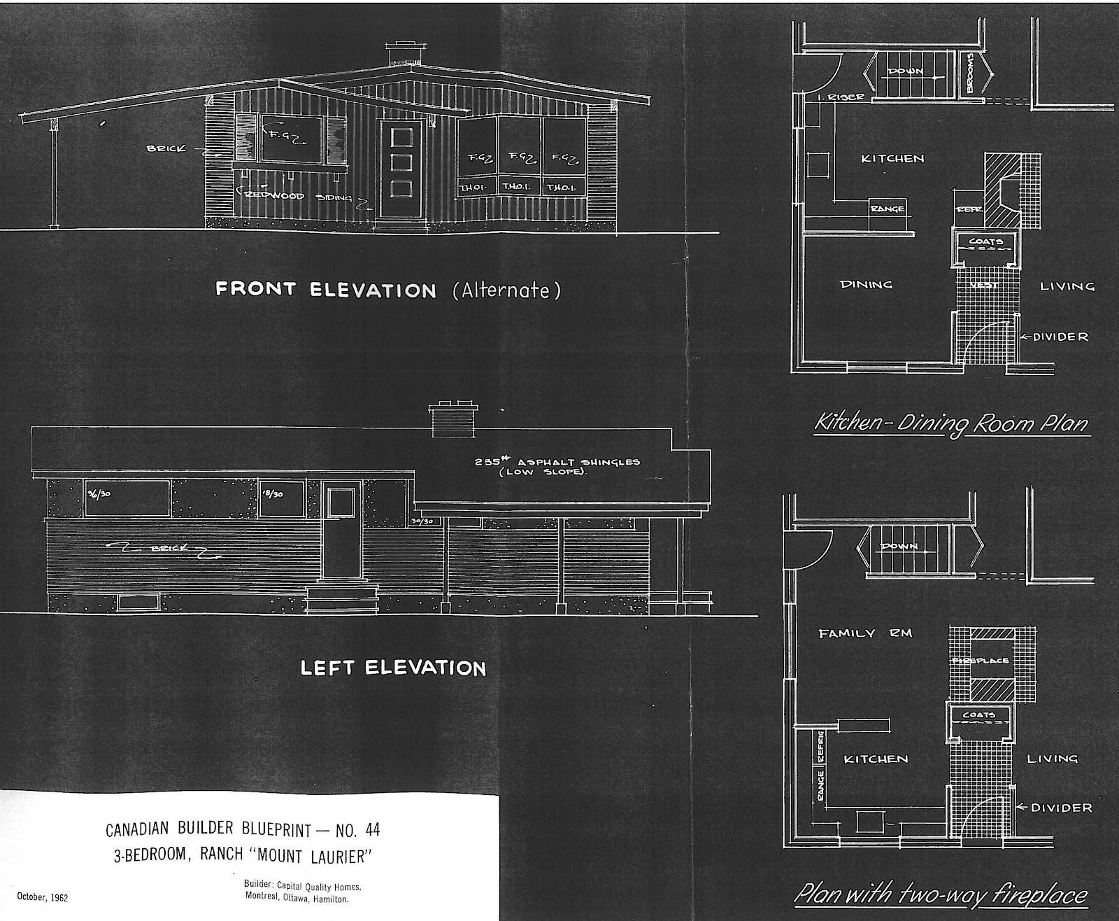 Mid century modern and 1970s era ottawa guildwood estatesurbandale i only have a few plans by these builders and they are shown below if you have any other plans for the area please let me know as i would love to share malvernweather Images