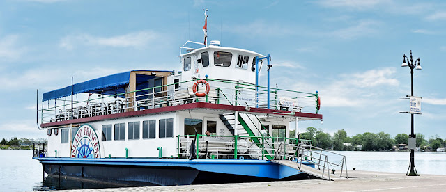 Orillia Cruises - The Island Princess at the town dock.
