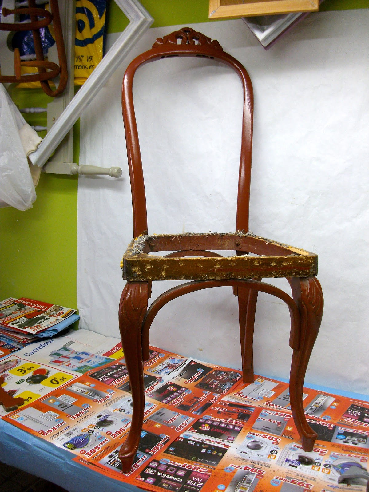 Restauraci n el palisandro restauraci n de una silla estilo ingl s - Sillas estilo ingles ...